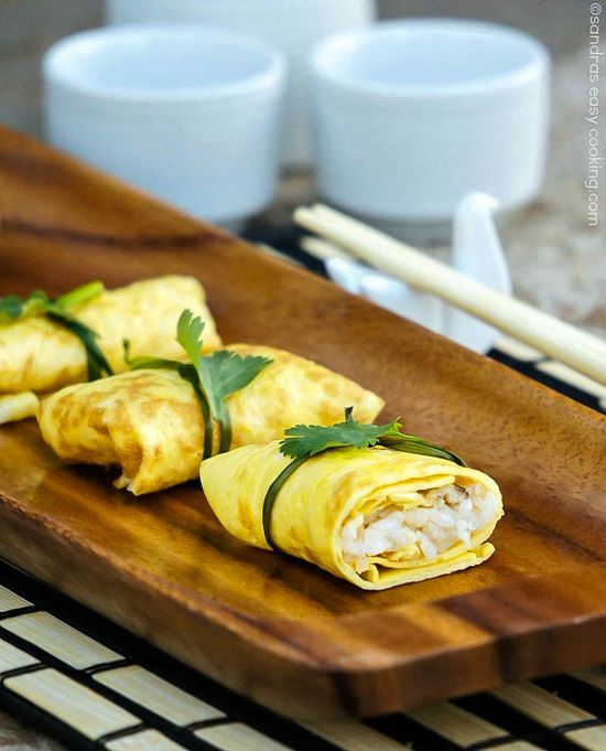 Fukusa-zushi - Omelette Parcels with Shiitake Mushrooms and Rice