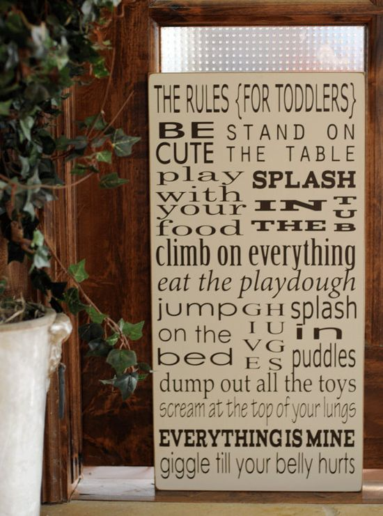 playroom rules for toddlers