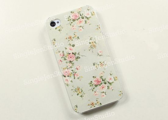 Blossom Floral iphone case, iphone 4s case, iphone 4 cover case, iphone case 4, iphone hard case, iphone 5 case