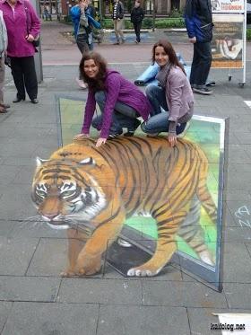 3D art - tiger