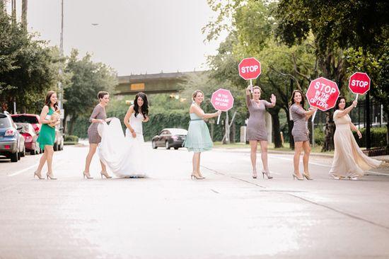 STOP wedding signs