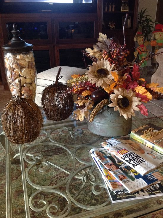 Easy flower arrangement for fall