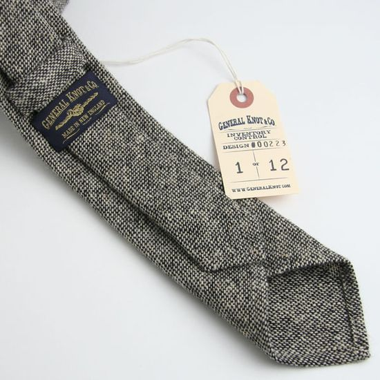 General Knot and Co. tie, men's fashion, greys