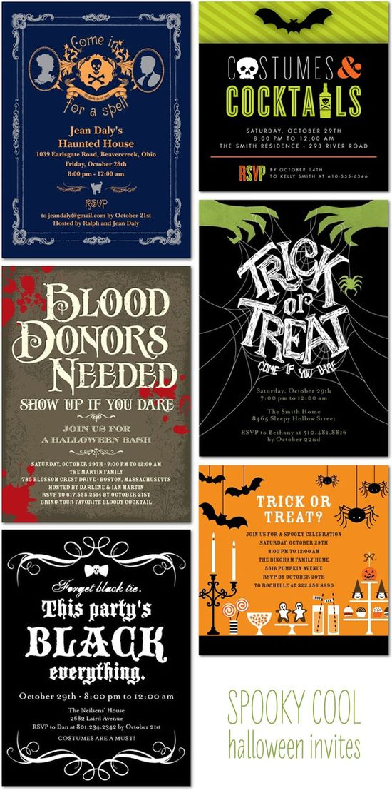 Hallowe'en invitations