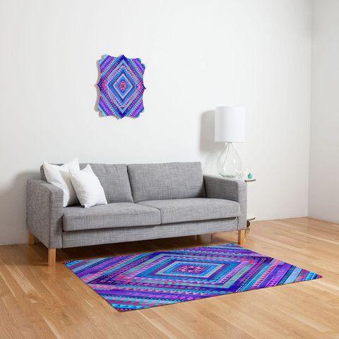 Jacqueline Maldonado Rhythm 1 Woven Rug #neon #geometric #pattern #home #decor
