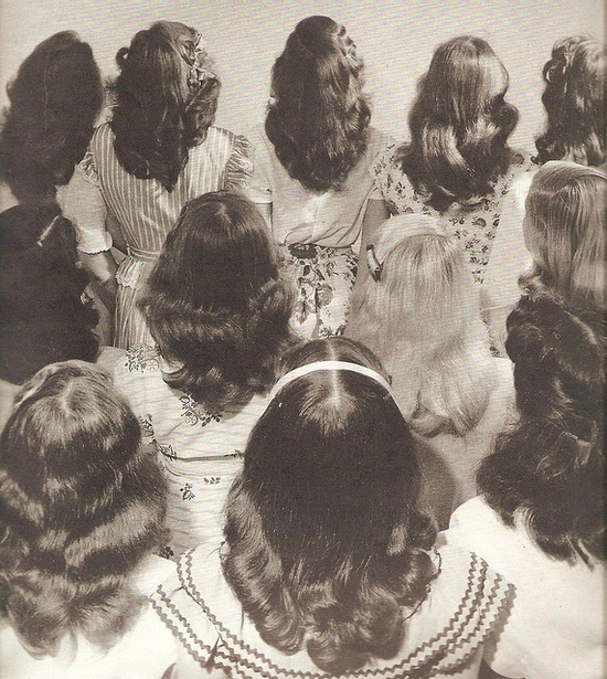 Vintage hair from the back