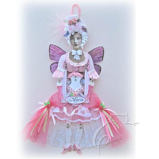 Beautiful paper art doll by Kellie Reynolds!