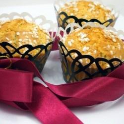 White chocolate and mango muffins