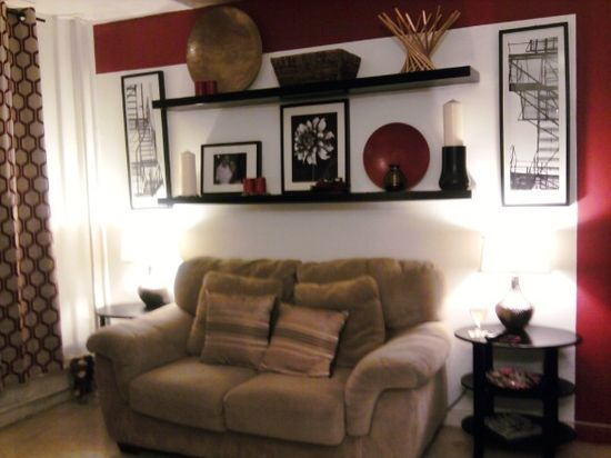 small living room in apartment