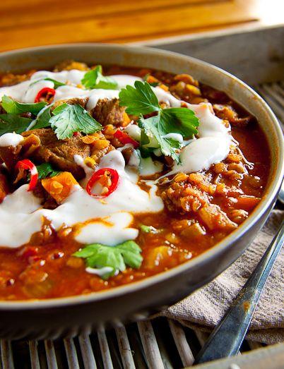 Spicy Lamb & Lentil #Soup #recipe