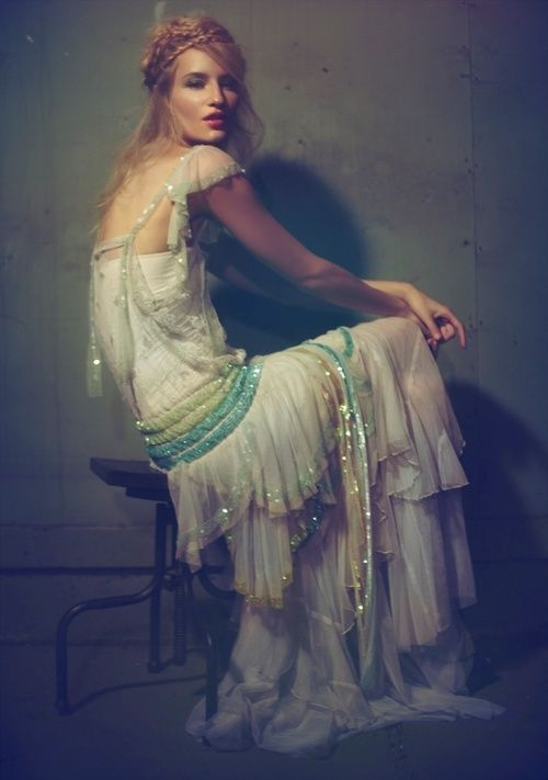 Bohemian Bride. The dress is absolutely stunning