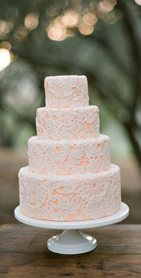 Wedding Cake, peach
