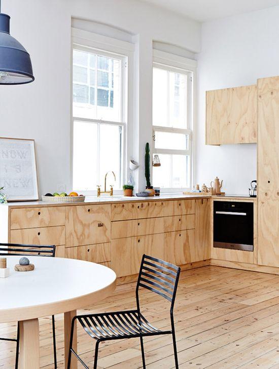 plywood kitchen #decor #kitchens #cozinhas #compensado