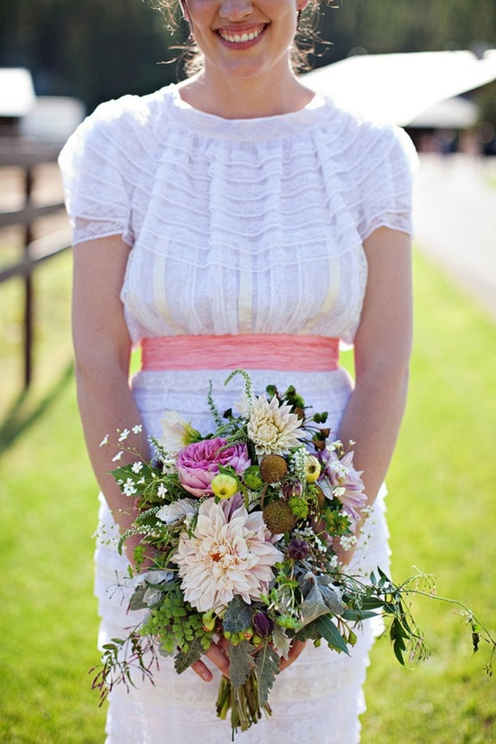 short sleeved wedding dress