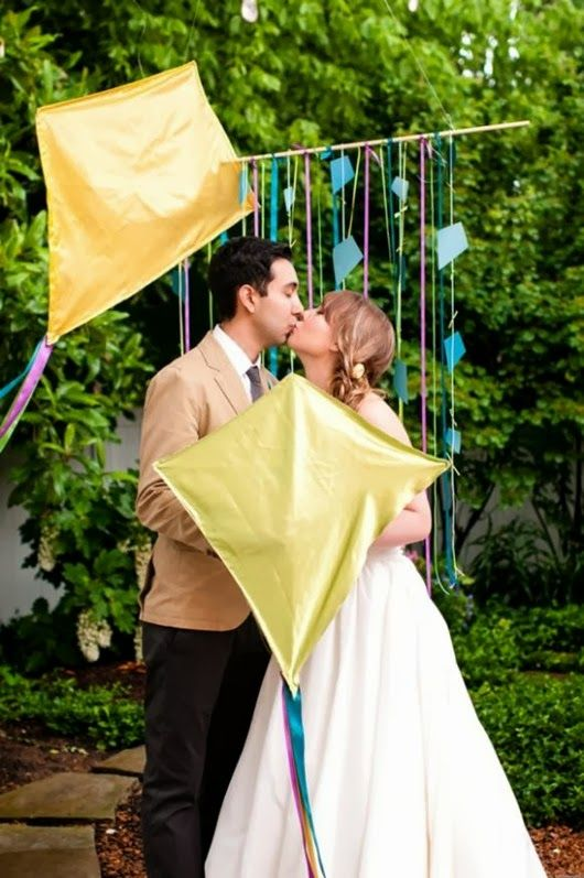 wedding ideas whimsy colourful kite