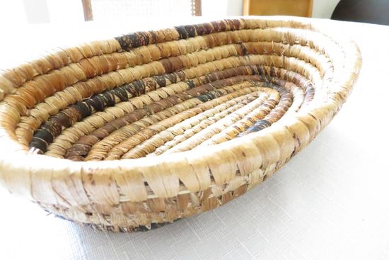 Beautiful handmade bread basket made from banana leaves! LOVE IT
