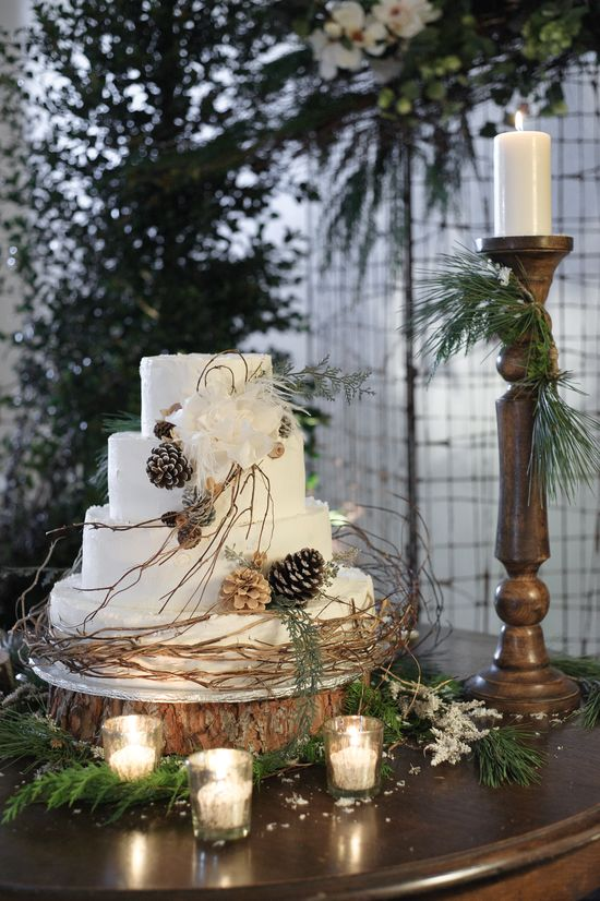 Winter Wedding Cake.