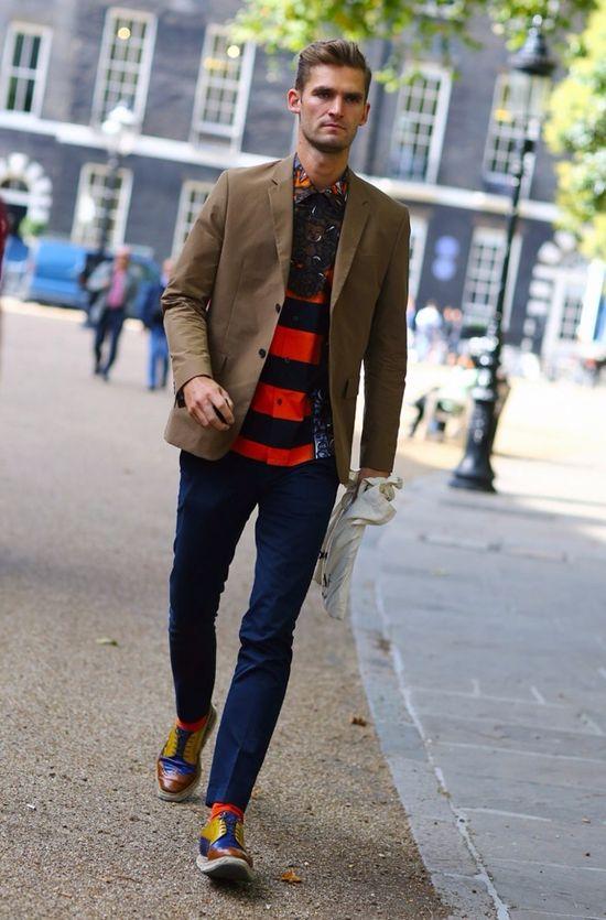 Bold Stripes + Pattern in Men's Fashion Design