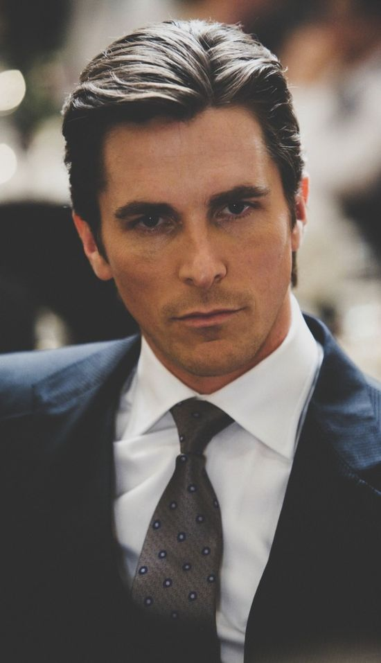 ITS BATMAN!!! (Christian Bale) He looks very handsome in this pic. ^.^