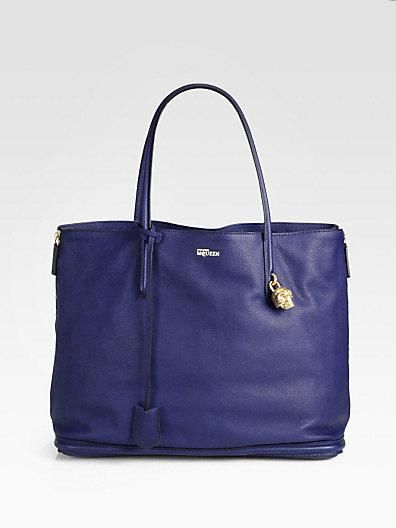 Alexander McQueen -- gorgeous blue tote.  Saks Fifth Avenue