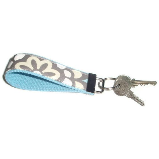 Wristlet Key Chain Fob Ring made with Amy Butler by xoribbons, $8.00