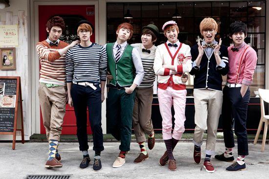 K-Pop Boys be Poppin' #Korea #KPop #Twee #Gentlemen #Boys #Dapper #Style #Fashion #Look #outfit #Humor #Culture #Preppy #BowTie #Cardigan #Cute #Brogues