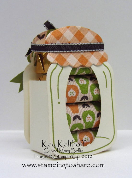 Stampin' Up!  Perfectly Preserved nugget Jar  by Kay Kalthoff