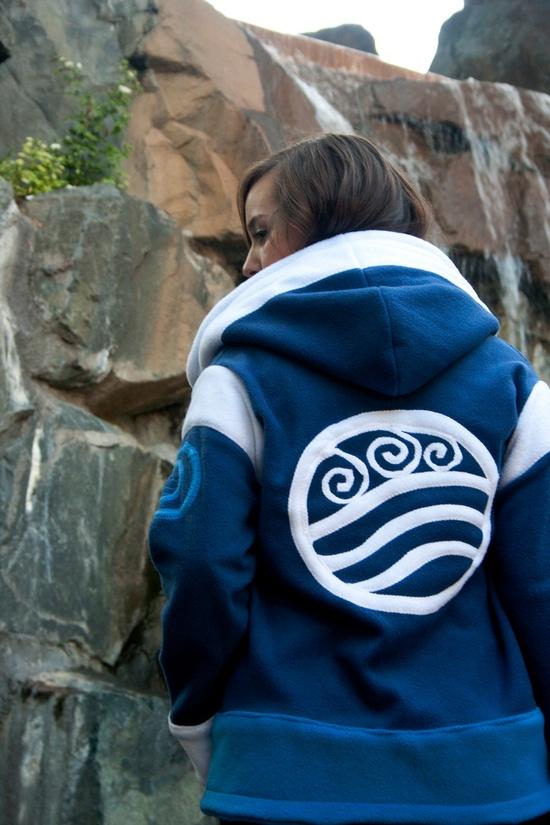 Water Tribe -- FLEECE Avatar: The Last Airbender Legend of Korra Hoodie / Sweatshirt. $190.00, via Etsy.
