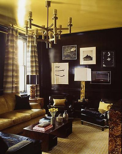 black interior furniture design ideas