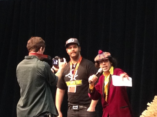 Harley Morenstein (Epic Meal Time) and  Nardwuar