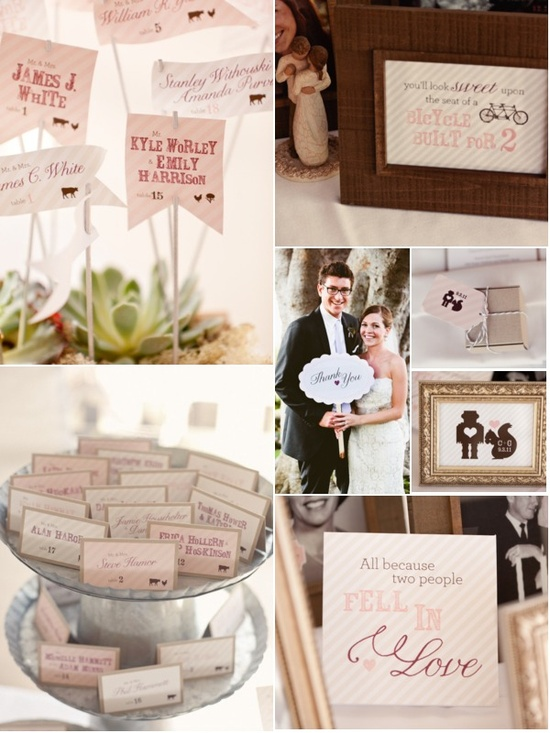 So much pretty paper goodness in this wedding! stylemepretty.com... / Paper suite by Brightly Designed   (brightlydesigned.com)