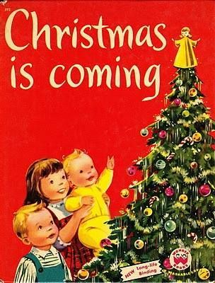 Vintage Christmas Book cover.