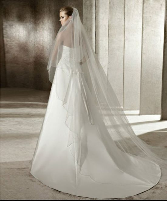Satin Strapless Rouched Bodice Side-draped Celebrity Wedding Dress