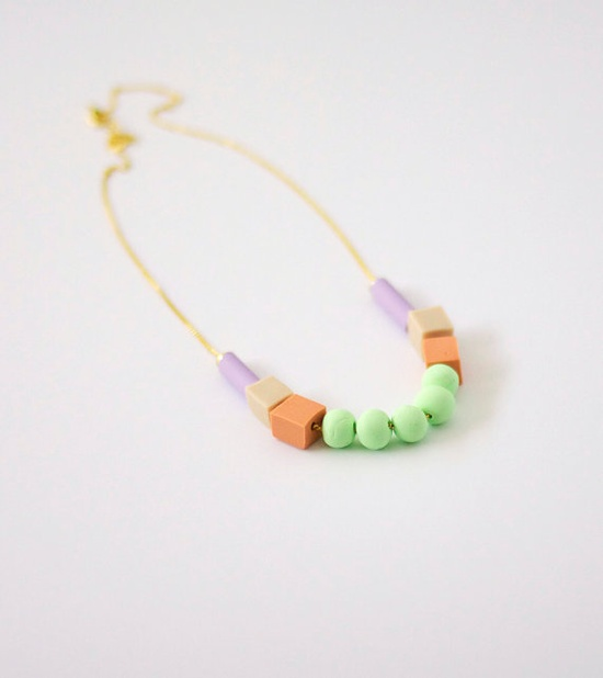 pastel mixed bead necklace no. 1, by AMM jewelry