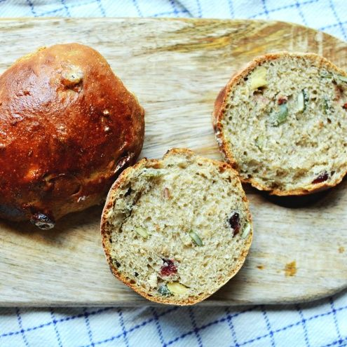 Autumn Buns with Cranberries and Pumpkin - Nordic Bread Recipe