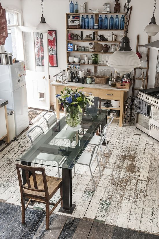 Rustic Kitchen floor - England - Vintage Home Decor Ideas