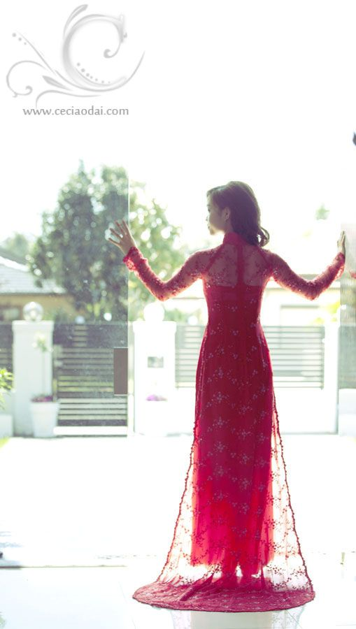 Beautiful red ao dai
