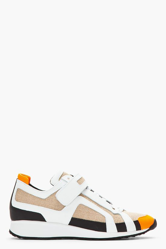 PIERRE HARDY White & Juta BX00 Sneakers