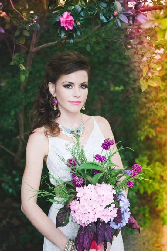 bohemian purple bouquet // photo by ChristinaLillyPho...