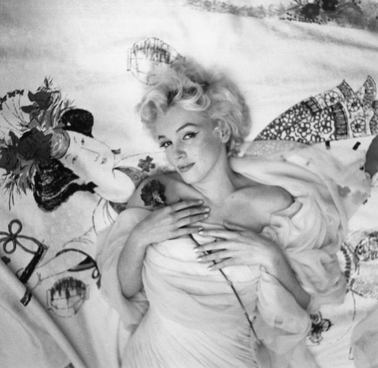 Cecil Beaton's iconic, and often imitated, portrait of Marilyn Monroe