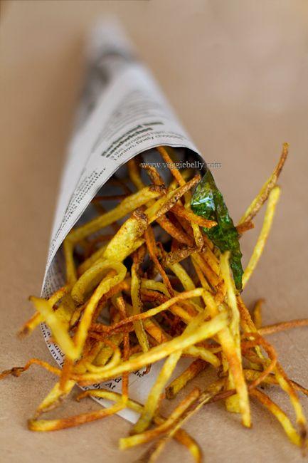 Indian Spiced Potato Chip Sticks. Baked, not Fried!