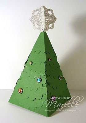 Stampin' Up!  Petal Cone  Marelle Taylor  Christmas Tree