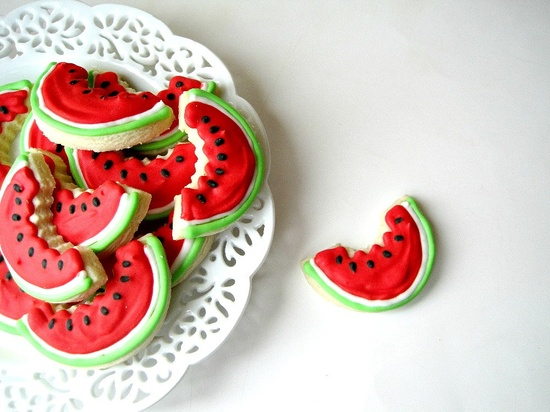 The Watermelon Slices Sugar Cookies Are Deliciously Sweet - Foodista.com