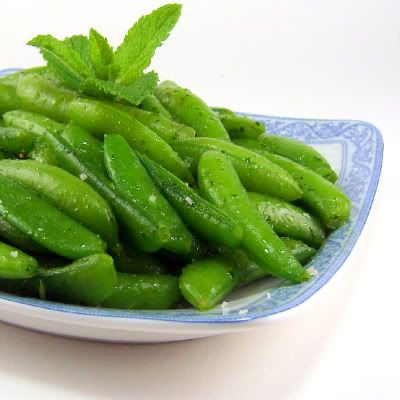 Sugar Snap Peas with Fresh Mint Oil
