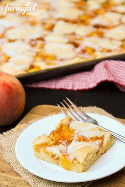 Almond Peach Squares - www.afarmgirlsdab...