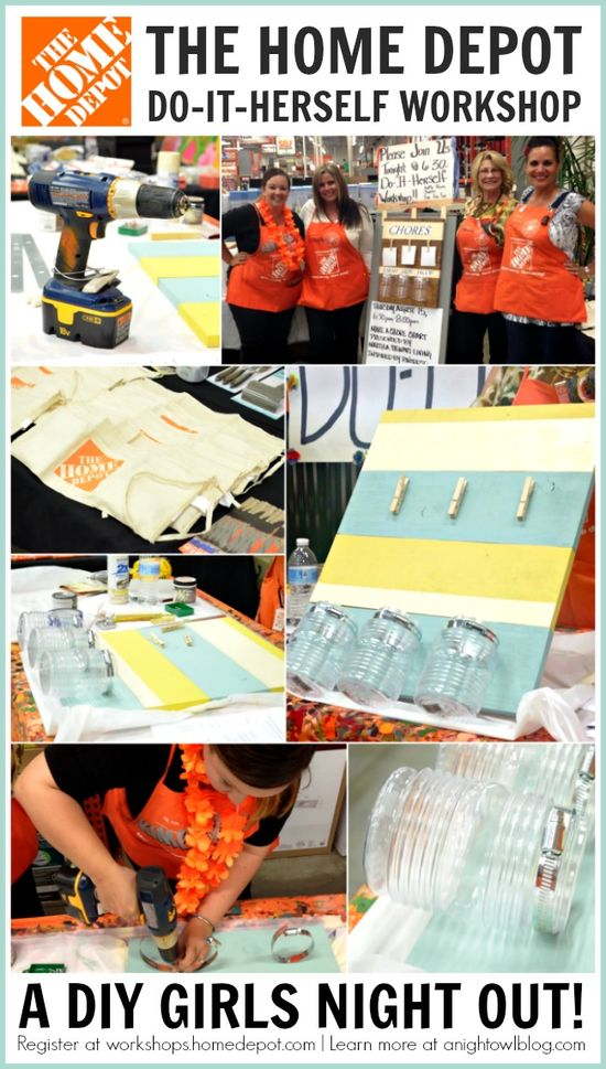 Home Depot Do It Herself Workshop! This would be a fun pre-bachelorette party activity #DIHWorkshop