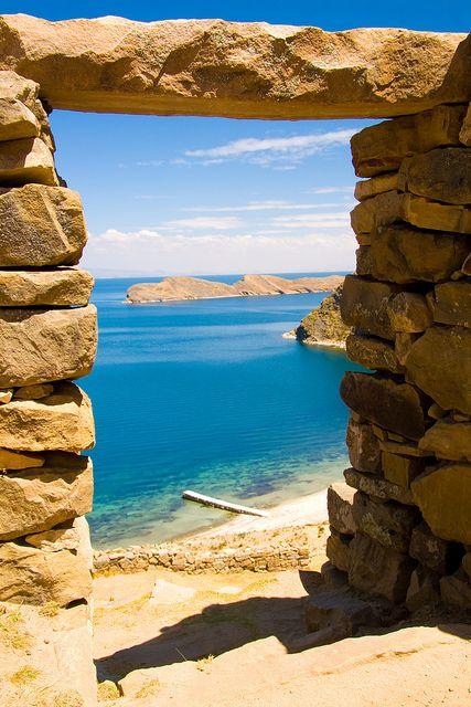 Inca Ruins, Lake Titicaca, Peru