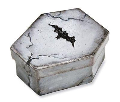 Paper Maché Spooky Bat Coffin Box