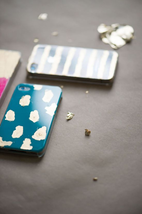 Gold Leaf iPhone Cases DIY