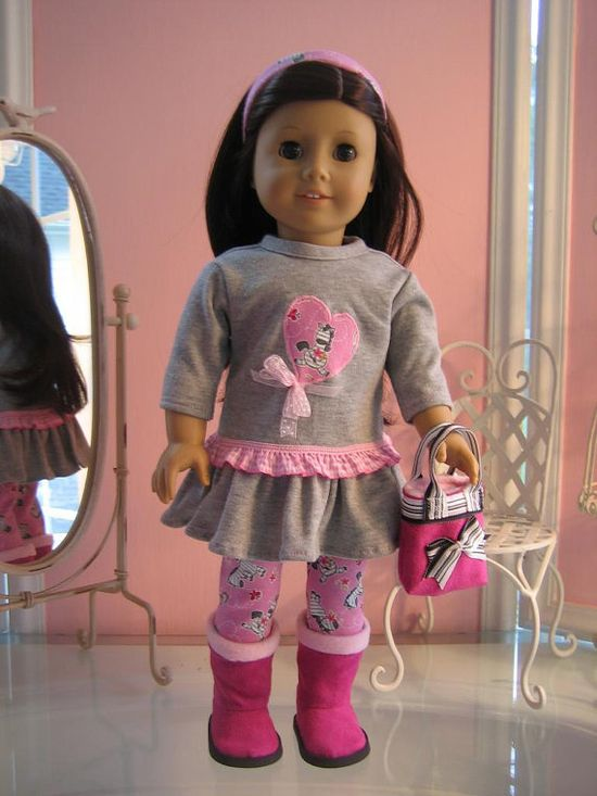 18 inch American Girl Doll Clothes /  Tshirt dress by MenaBella,